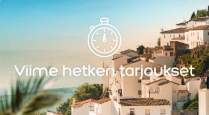 Hotels.comin viime hetken tarjoukset
