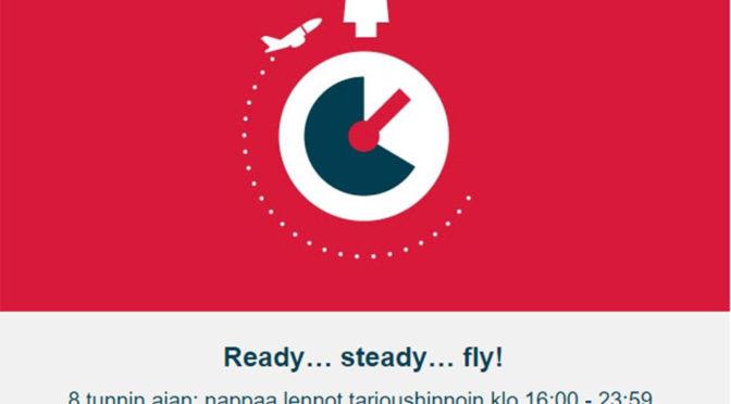 Norwegianin 8 tunnin ALE on nyt käynnissä!